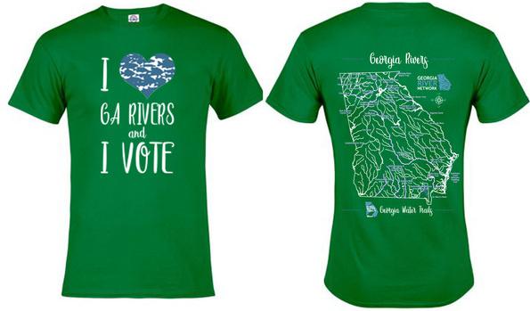 I Love Rivers and I Vote- Shirt 2