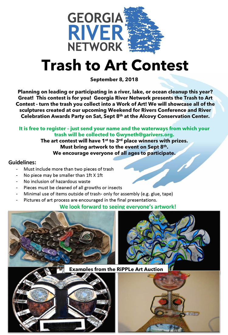 GRN River Trash to Art Contest Flyer 2