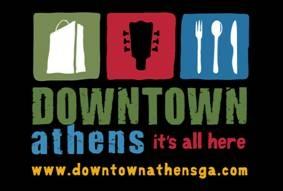 Downtown Athens LogoOnBlack