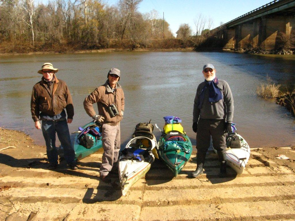 Oconee Oarsome Expedition of 2012 at Mt. Vernon put-in, Oconee River bridge on U.S. 280; 01-13-11
